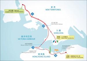 渣打馬拉松2015-半馬拉松路線