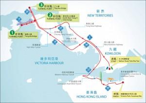 渣打馬拉松2015-馬拉松路線