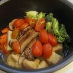 [素食食譜] 蕃茄仔BBQ菇黃薑飯