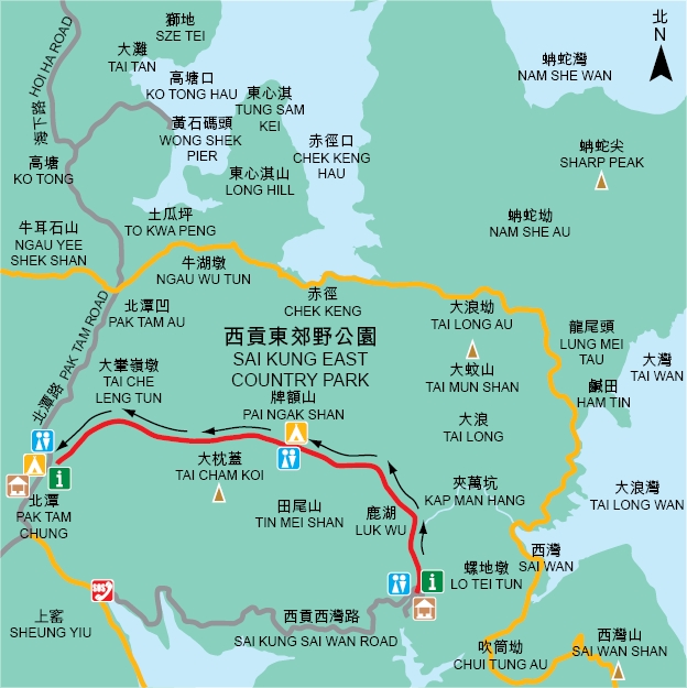 圖片來源:http://hiking.gov.hk/