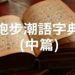跑步潮語字典 (中篇)