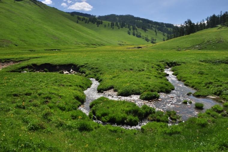 每次經過河流,馬兒都想停留喝水,而馬伕就會驅趕牠們(圖片來源:栢崙)